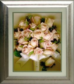 Roses in Silver Frame