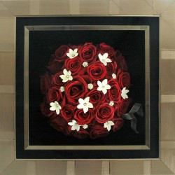Roses in Manhttan Pewter Stripe Frame
