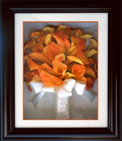 Calla Lilies in Wood Frame