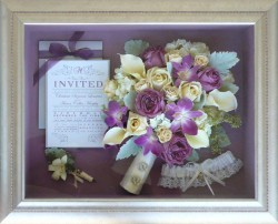 Roses & Orchids in Silver Frame
