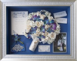 Orchids & Roses in Blue