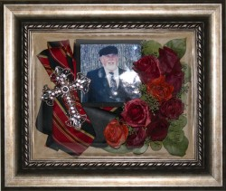 Memorial keepsake with photo and necktie