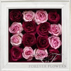 Simply Roses Pavé design with White Distressed Frame