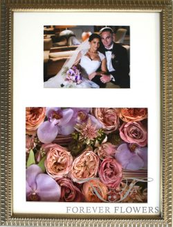 Pavé design bridal flowers and photo with orchids